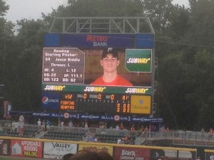 Jesse on the MetroBank JumboTron