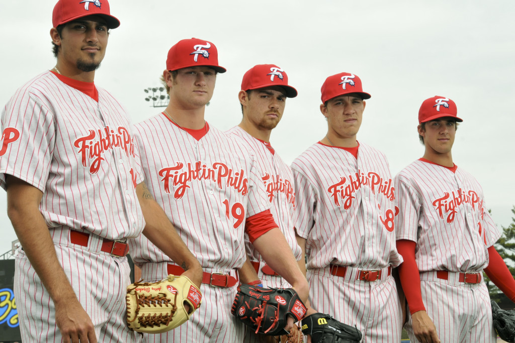 Reading Fab Five (l to r): Zach Eflin, Ben Lively, Jesse Biddle, Tom Windle,